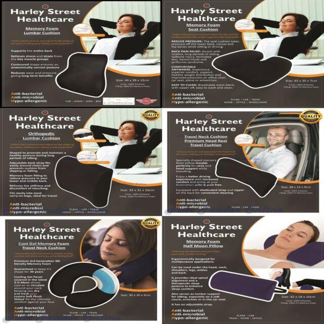 Premium Cool Gel Memory Foam Neck Pillow Soft Cushion Car Travel Health Care 4Lb