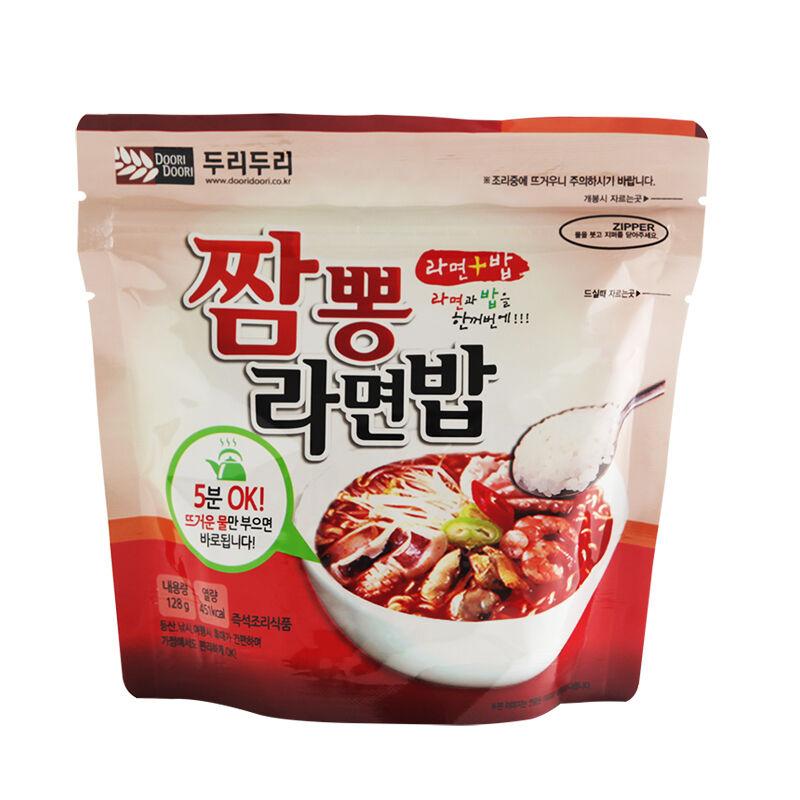 Korean Food Seafood Noodle & Rice Ramen Bap MRE  Pour Just Pour  Hot Water 10EA b627f1