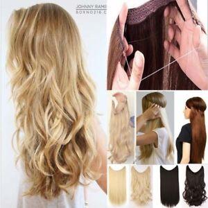 Clip In Extensions Hair Haarverlängerung Lockig Blond 1p Haarteile