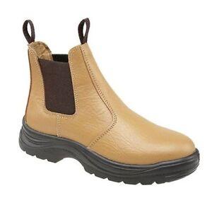 sécurité sur 12 11 Chelsea de 9 Taille tirer cuir en 6 bottes homme 7 à 10 brun pour des Concessionnaire Casquette 8 wqxzYH4