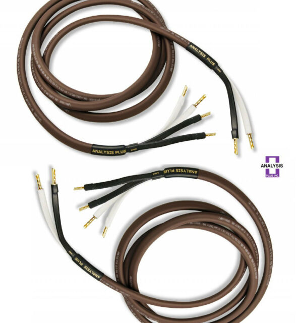 Analysis Plus Chocolate Oval 12//2 Speaker Cables 6ft Length PAIR