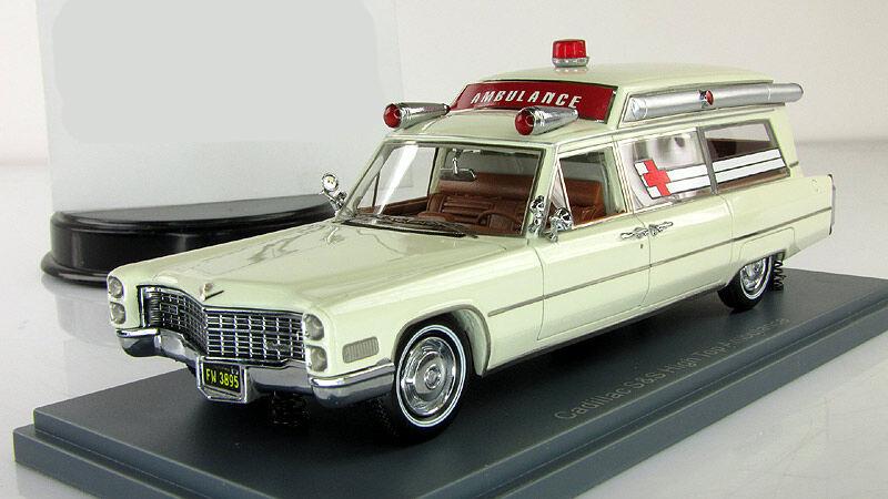 1 43 Neo Cadillac S&S Ambulance Weiß 1966 american USA NEO 43895