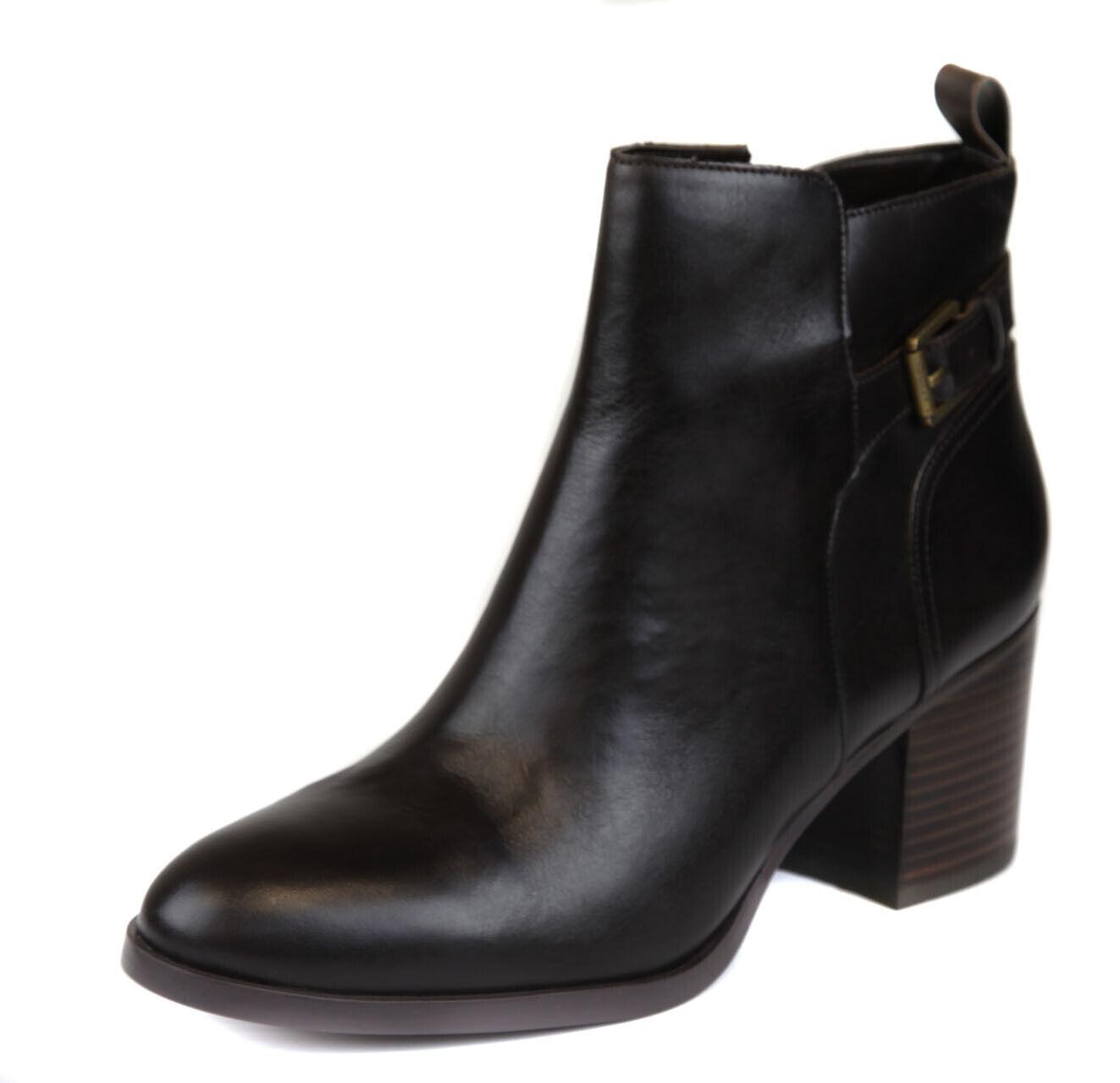 Lauren Ralph Lauren Wouomo Marronee Genna Leather Ankle avvioie scarpe Ret  149 New