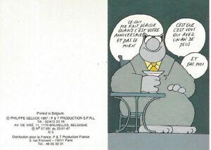 Détails Sur Geluck Le Chat Carte Postale Votre Anniversaire Pas Le Mien 85x115 Cm