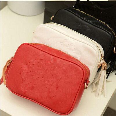Brand New Fashion Tassels Women's Shoulder Bag Small Handbag RED