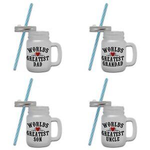 Worlds Greatest (Relation) Novelty Gift Mason Jar Mug - Male