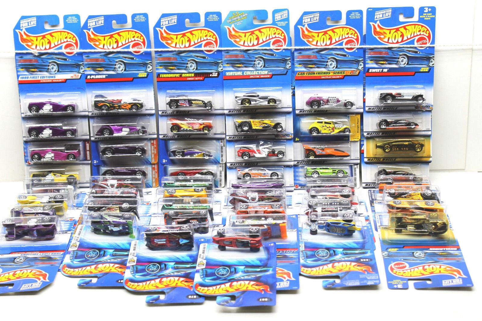 50 pc Hot Wheels Ford Die Cast Car Lot Concept+Futuristic 1998 - 2003 Mattel NOC
