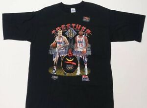 Vintage black USA basketball Olympic Barcelona NBA short sleeve t-shirt sz XL