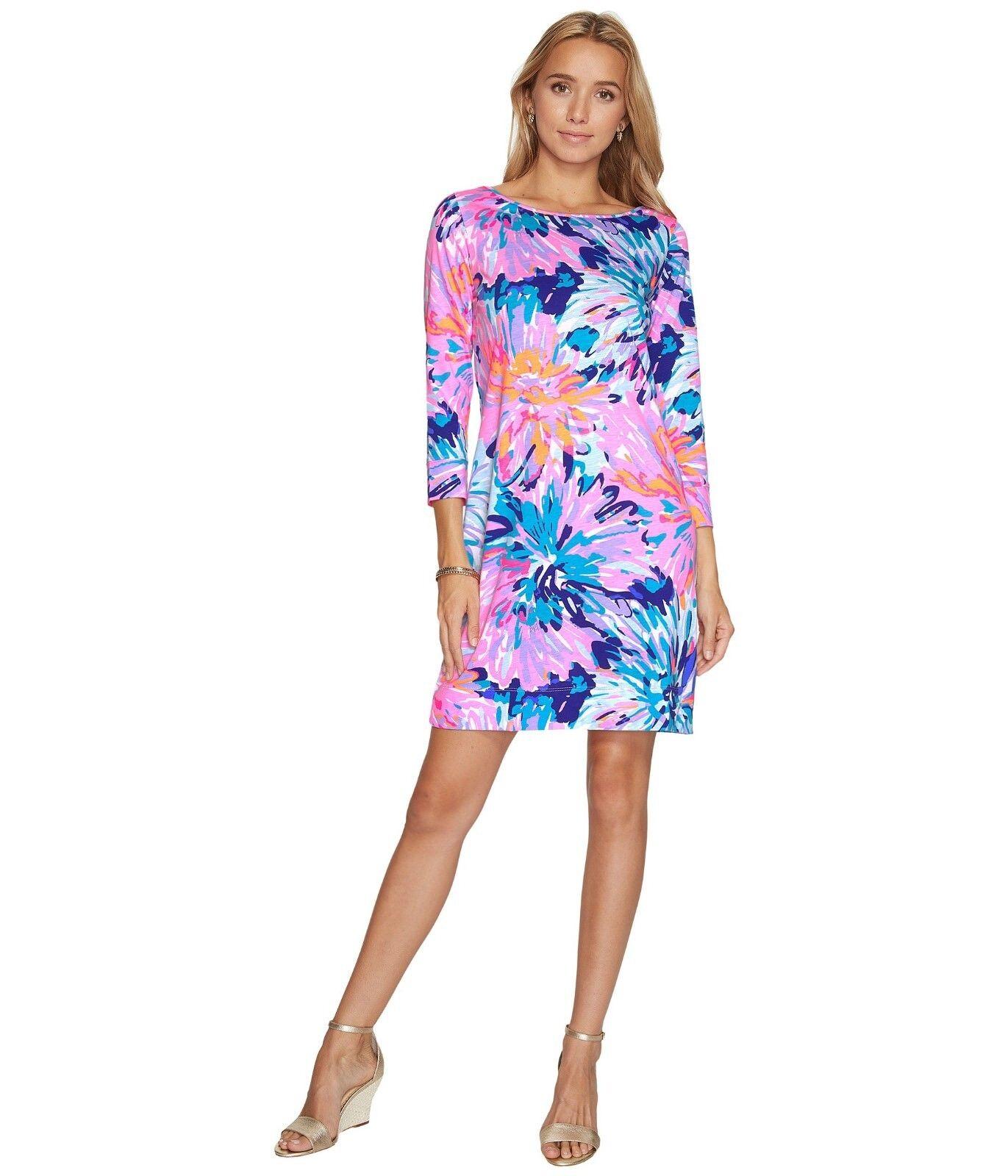 b6012595430a Lilly Pulitzer Robe T-Shirt Multi Off Tropique Réduit blue pink S Marlowe  Neuf npjjyj820-Dresses