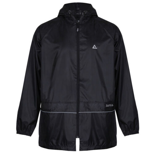 Dare2b Waterproof Over Jacket Outer Wear Rain Wet Breaklight Lightweight Black