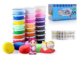 Air-Dry-Clay-24-Colors-Ultra-Light-Modeling-Clay-iFergoo-Magic-Clay-DIY-Creati