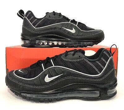 Nike Air Max 98 Black Metallic Silver Oil Grey 640744 013 Men's Size 8.5   eBay