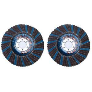 2Pcs-Set-Zirconia-Alumina-Abrasive-Flap-Disc-Radial-Shape-Round-Hole-Phenol-K2X5