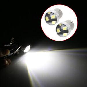 2X-6-LED-BRAKE-REVERSE-TURN-STOP-TAIL-LIGHT-BULB-1156-BA15S-CAR-WHITE-GLOBE-12V