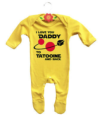 Baby & Toddler Clothing Dynamic I Love You Daddy To Tatooine And Back Baby's Rompersuit Sleepsuit Baby Grow Star