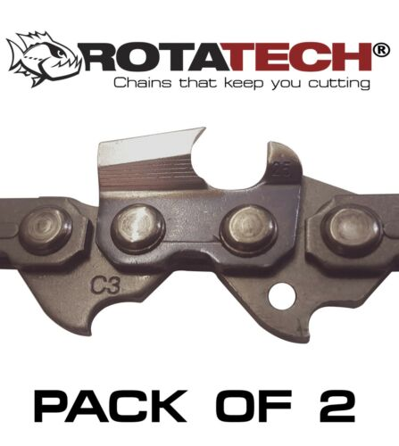 "16/"" GENUINE Rotatech Chainsaw Saw Chain Fits BOSCH AKE40-19S AK40 19S x2 Two"