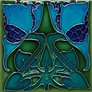 Art Nouveau Reproduction Decorative Ceramic tile 231
