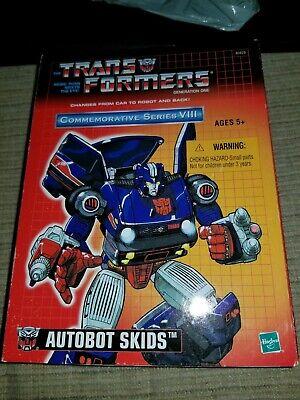 Hasbro Transformers G1 Commemorative Series VIII reissue Skids VINTAGE MISB