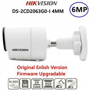 Hikvision 6MP IP Camera DS-2CD2063G0-I IR POE Bullet Replace DS-2CD2042FWD-I 2.8