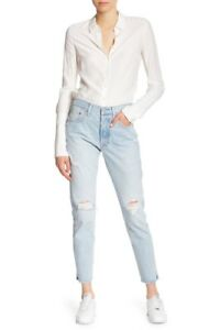 c02ac840d5f NWT  168 Levi s 501 SELVEDGE High Waist Button Fly Destroyed Skinny ...
