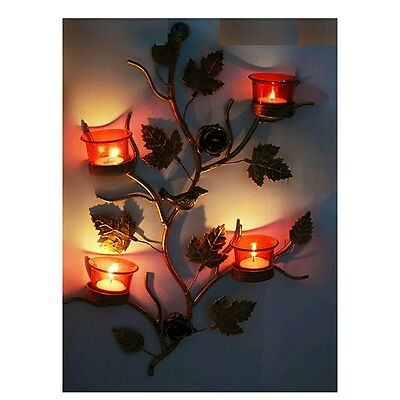 Tealight Holder Wall Hanging Sconce With The Loops To Hold Red Glass Tealight