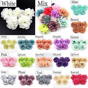 50Pc-11cm-Silk-Peony-Rose-Artificial-Silk-flower-Head-Craft-Wedding-Bouquet-Make