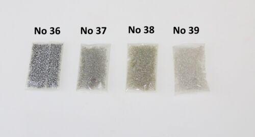 Sac de graines Perles Ruban Shiny Silver Mirror Craft Couture Bijoux 11//0 2.1 mm