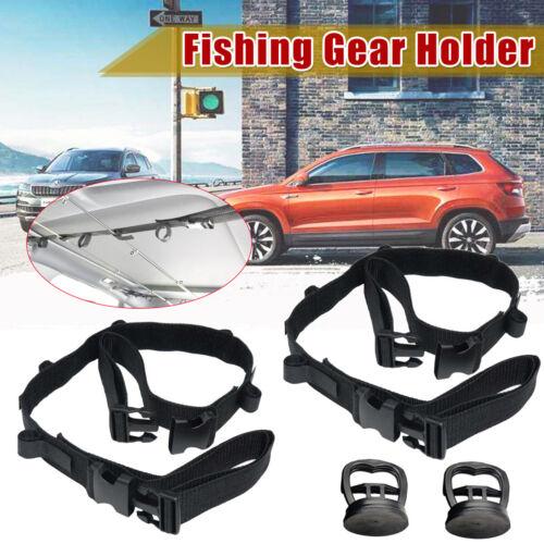 Car Fishing Rod Rack Carrier Reel Combos Pole Holder Mount Belt for SUV//MVP//RV