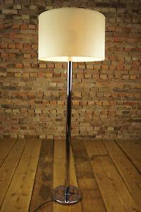 Details zu 60er Vintage Staff Stehlampe Leuchte Lampe Mid Century Bodenlampe chrom 70er