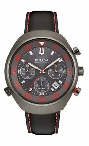 Bulova-Accutron-II-Men-039-s-98B252-UHF-Lobster-Chronograph-Red-Accents-45mm-Watch