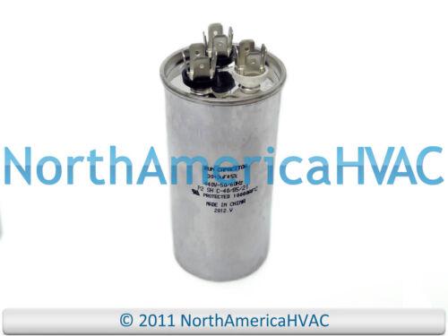 NEW Motor Round Dual Run Capacitor 30 3 uf MFD 370 Volt Packard PRCD303