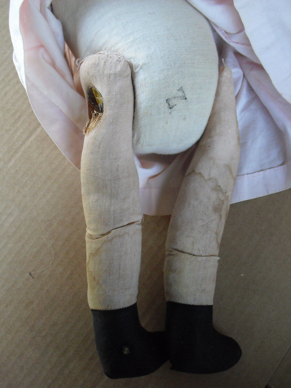 BIG Vintage Composition Cloth Tall Character Girl Doll 22