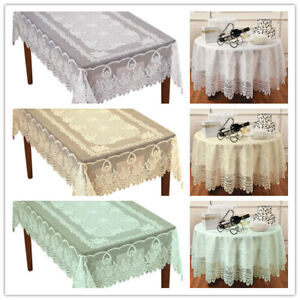Vintage-Lace-Tablecloth-Dining-Table-Cloth-Cover-Wedding-Party-Home-Decor-Floral