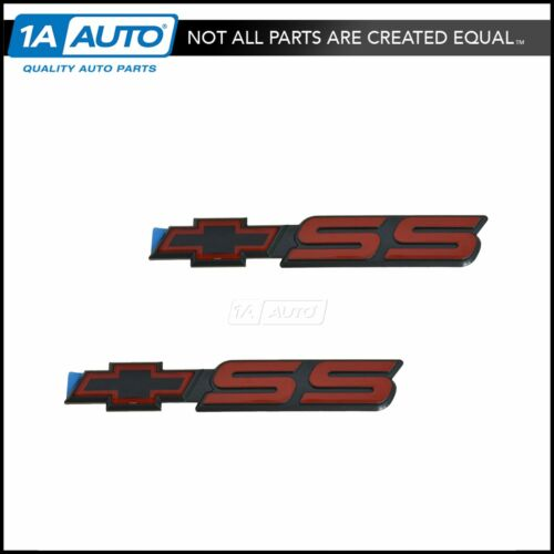OEM Emblem Nameplate Red SS Bow Tie Pair Set for 94-04 Chevy S10 Pickup 15970086