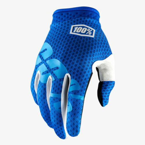 2018 100/% ITRACK MOTOCROSS MX BIKE GLOVES BLUE mtb