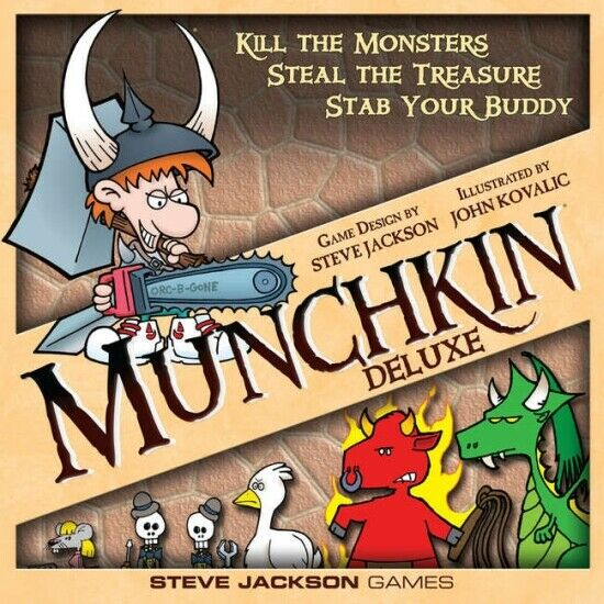 1x  Munchkin  Deluxe  1st Edition 1st Printing