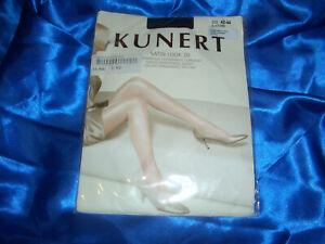 Kunerl-Satin Look 40-Collant Taille II-IV Noir