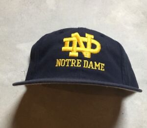 cd013f9ada6e6 Details about VTG NOTRE DAME FIGHTING IRISH Roman PRO MODEL Fitted Hat 6  7/8 Wool Lou Holtz