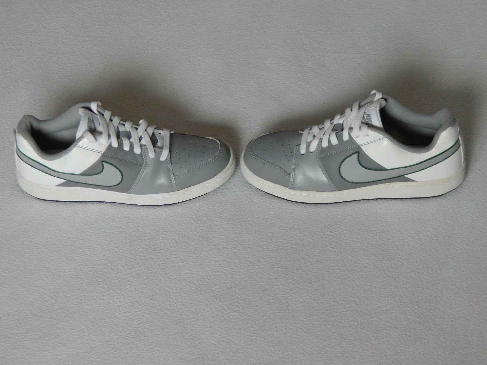 NIKE BACKBOARD 2 MENS GREY WHITE LEATHER SHOES TRAINERS