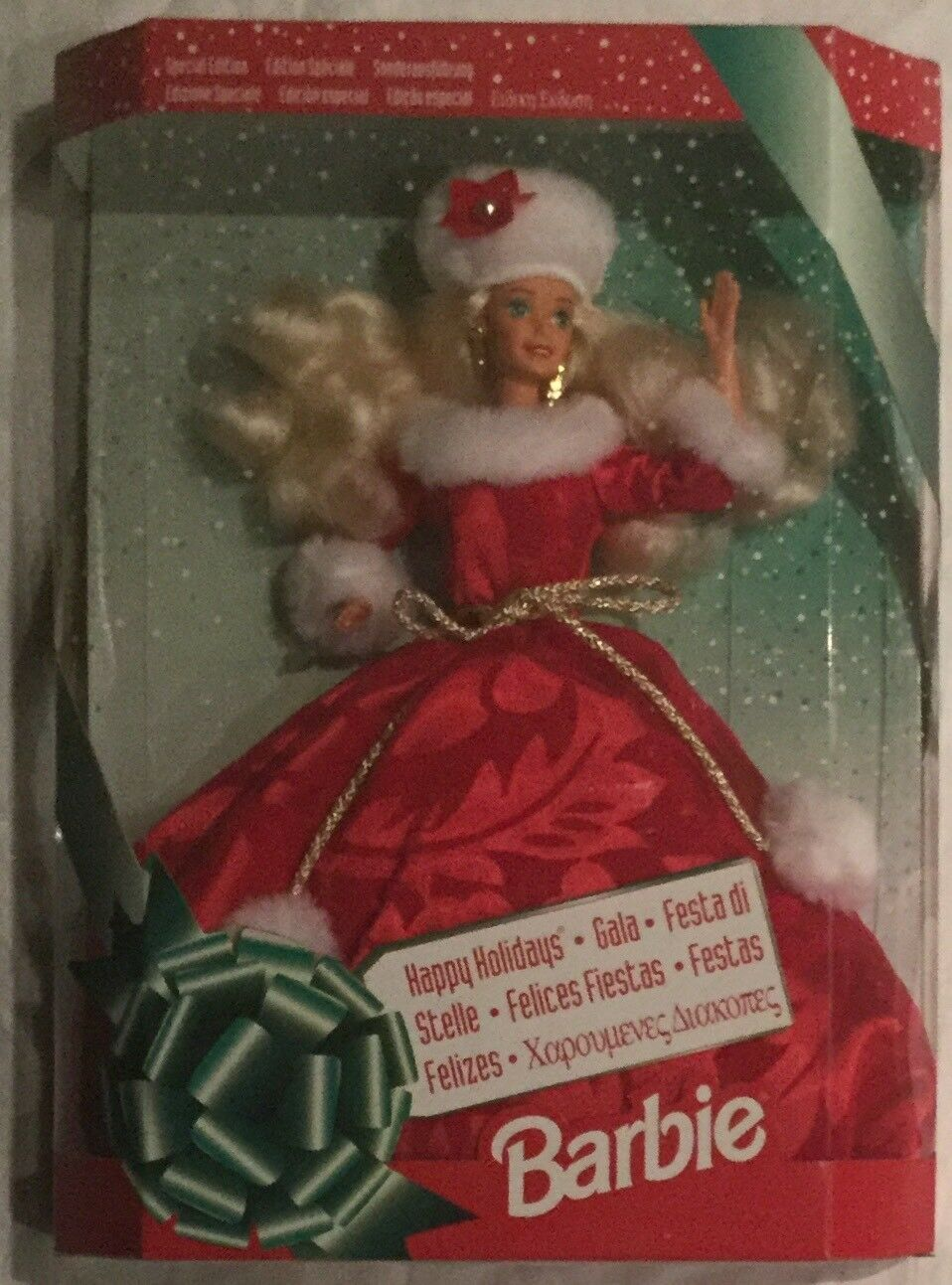Barbie Felices Fiestas gala internacional Vacaciones Barbie Edición Especial
