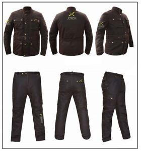 Pantaloni Cotone Cappotto Con Cerato Motorino Cintura Armatura Ce Foderato Biker wqEf1zZ