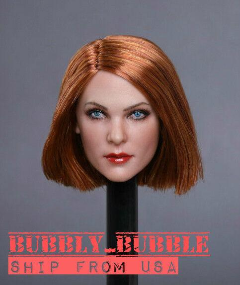 1 6 Female Head Sculpt Brown Hair GC019 E For 12  PHICEN Hot Toys Figure  USA