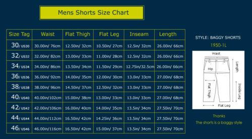 Mens Shorts Jeans Denim Shorts Loose Fit Light Wash Blue Plus Size 30-46W 13L