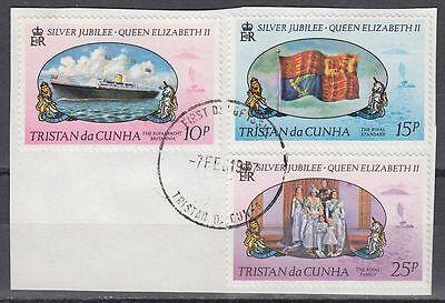 Großbritannien Kolonien Methodisch Tristan Da Cunha 1977 Θ Mi.213/15 Regentschaft Silver Jubilee Queen sq7117