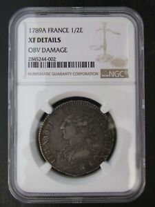 1789A-France-Silver-1-2-Ecu-graded-XF-Details-by-NGC
