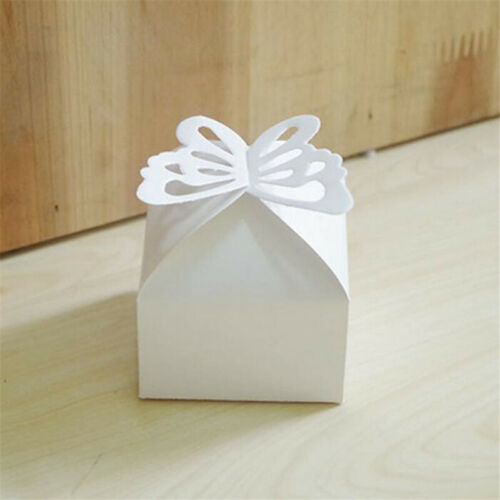 JAP 50PCS Butterfly Wedding Favour  Sweet Cake Gift Candy Boxes Table Decor