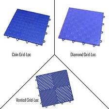 Incstores Grid-Loc Garage Tiles (12) 12in x 12in Diamond, Coin & Vented Flooring