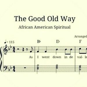 Details about Sheet Music, The Good Old Way, Gospel Hymn, Piano, Vocals,  Chords