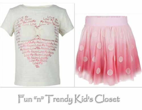 NWT RUUM American Kids Wear Girls Size 3T Shirt Top /& Mesh Tutu Skirt 2-PC SET