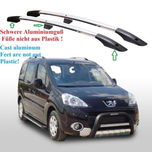 Peugeot partner tepee a partir del año de fabricación 2008 aluminio dachrelinge en cromo TÜV y Abe